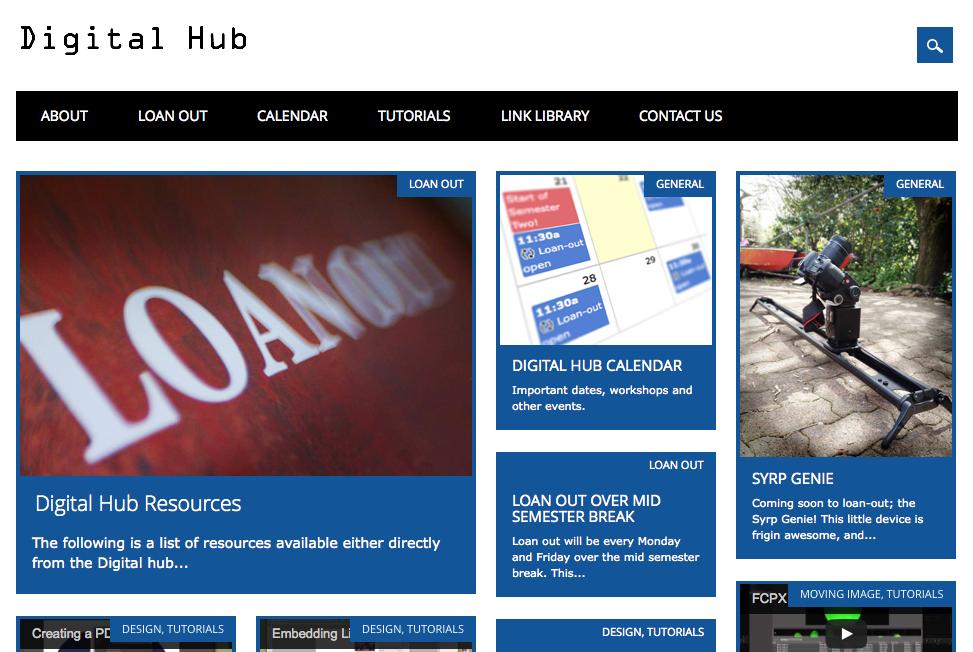 Digital Hub Website